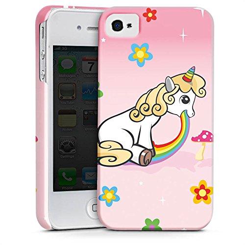 Apple iPhone X Silikon Hülle Case Schutzhülle einhorn unicorn regenbogen Premium Case glänzend