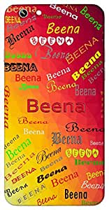 Beena (A Musical Instrument Seeing Clear Sighted) Name & Sign Printed All over customize & Personalized!! Protective back cover for your Smart Phone : Samsung Galaxy E5