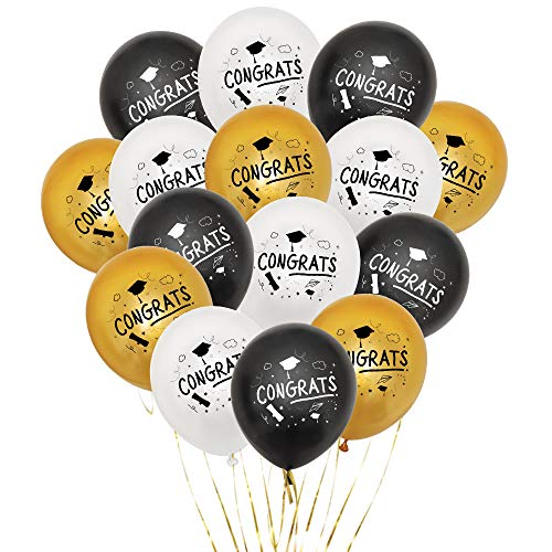 Losuya 2019 Abschlussfeier Latex Ballons Congrats Ballon Grad Party Supplies Dekorationen, 15PCS