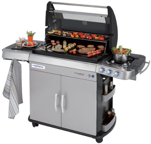 Campingaz 4 Series RBS EXS 170.6 x 62 x 117.6 cm Gas BBQ with Smoke-Free Barbecue, Ceramic Burner System and Side Burner, InstaClean and Culinary Modular System