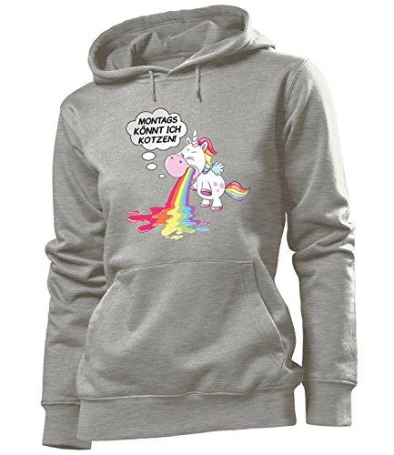 otzen 5939 Frauen Hoodie (FKP-GRAU) Gr. S (Kotzen Regenbogen Kostüm)