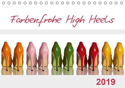 Farbenfrohe High Heels (Tischkalender 2019 DIN A5 quer): High Heels können nicht nur sexy und erotisch, sondern durchaus auch farbenfroh sein. (Monatskalender, 14 Seiten ) (CALVENDO Lifestyle)