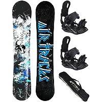 AIRTRACKS Snowboard Set / S-Mile + Snowboard Bindung Star oder Master Fastec + Sb Bag / 163 166 169 cm