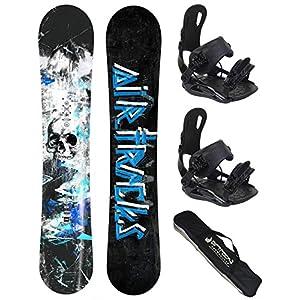 Airtracks Snowboard Set – S – Mile Snowboard Wide + Snowboardbindung Star oder Master FASTEC + Snowboard Bag / 163 166 169 cm