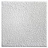 1 m² Deckenplatten Styroporplatten Stuck Decke Dekor Platten 50x50cm, Nr.09