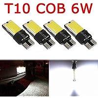 4PCS T10 W5W Luces blancas COB LED de tensión constante corriente del lado ancho de lámparas libres determinados del kit de Topker decodificación de los bulbos