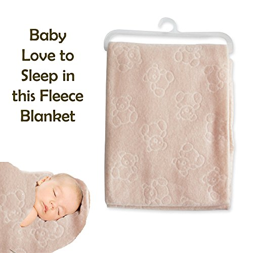 new-baby-newborn-soft-fleece-blanket-wrapping-shawl-bear-embossed-design-travel-pink