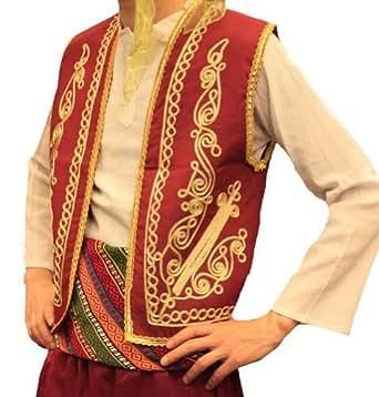 Gilet turc marocain de broderies d 39 or rouge l for Maison classique emporium
