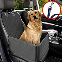 MATCC Pet Car Booster Seat Pet Dog Car Supplies Waterproof Pet Car Seat Cover Single Front Seat with Safety Leash Pet Car Carriers Puppy Travelling Seat Protector