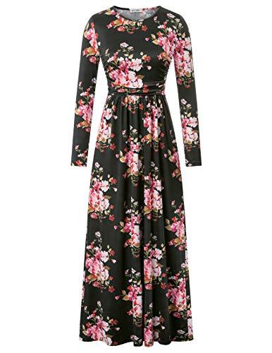 Grace karin vestiti donna autunnale stampata floreale ampia da sera a girocollo vestito abito cerimonia da donna 2xl cl011103-6