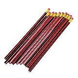 Exing 10 Pcs HB Bois Crayon Ensemble avec Eraser Astuces Unsharpened Papeterie Blacklead Outils De Dessin En Bois