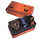 #9: Armado AR-812663 Combo of 3 Analogue Multicolor Dial Mens and Boys Watches-Combo of 3 Exclusive Watches