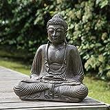 wanda collection Statue Bouddha Assis Position offrande Brun 42 cm