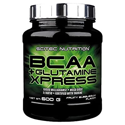 Scitec Nutrition BCAA+Glutamine Xpress Apple Flavoured Powder, 600 g from Scitec Nutrition