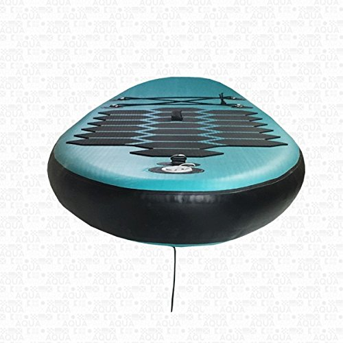 AQUAPARX SUP 335 x 76 x 14 cm Inflatable Isup Aufblasbar Alu-Paddel Marin Rucksack Pumpe Stand Up Paddle Board Set Aqua , türkis-blau/Schwarz -