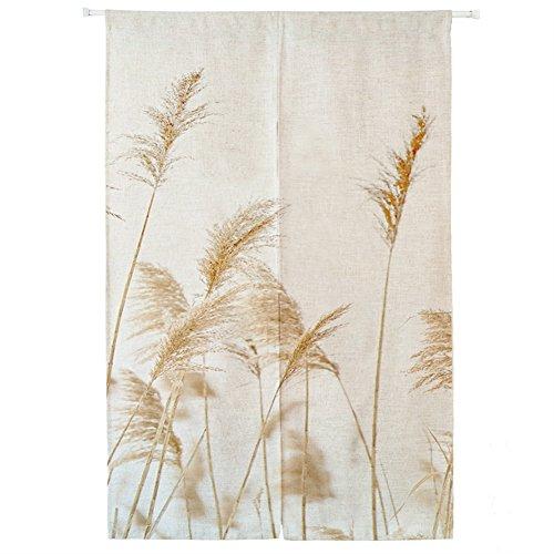 Icegrey noren tenda per porta con barre di tensione anteriore in lino noren giapponese tende classiche e drappeggi tappezzeria paglia 85 x 170 cm