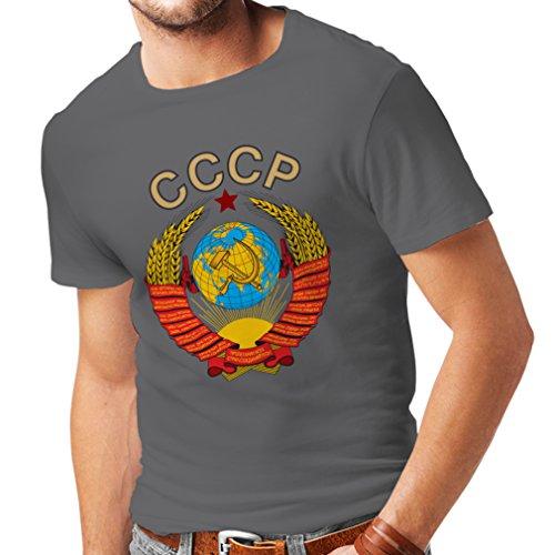 hirt СССР UDSSR Sowjetunion russische Flagge und Hymne (X-Large Graphit Mehrfarben) ()