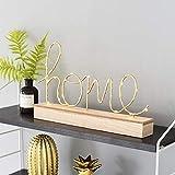 Lampada da tavolo decorativa a LED, in legno, con parole creative inglesi, per bambini, lampada da comodino, illuminazione natalizia a batteria, Heimat' Worte