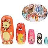 TOYMYTOY Muñecas de la jerarquización cinco muñecas rusas lindo regalo de juguete