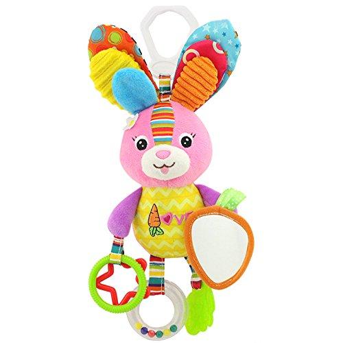 Zantec Baby Plüsch Tier Kinderwagen Bett Hängende Spielzeug Gefüllte Handbell Rattle mit Teether Geschenk für Säuglinge (Riesen Bären Kostüme)