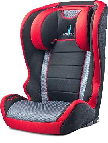 CARETERO PrestoFix gruppo 2/3, 15-36 kg seggiolino auto seggiolino per bambini, colore: Rosso