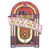 Beistle 577471-Pack Glitter Rock und Roll Streamer Party Dekorationen Gramolaschnipsel 91,44 cm bunt