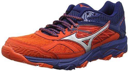 Mizuno Wave Mujin 5, Zapatillas de Running para Hombre, Rojo (Cherrytomato/Silver/Estate Blue 03), 47 EU