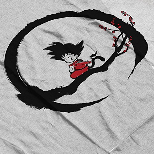 Young Goku Under The Moon Dragon Ball Z Women's Vest Heather Grey