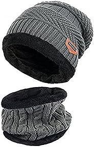 ZZLAY Sciarpa Spessa del Cappello del Beanie di Inverno dei Capretti Sciarpa Calda del Cranio di Neve Calda Sl
