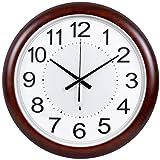 SEEKSUNG Wanduhr Silent-Non-Ticken 18 Zoll-Quarz-Taktgeber Schlafzimmer Wohnzimmer Muten Scanning Smart-elektrische Taktgeber (Farbe: A)