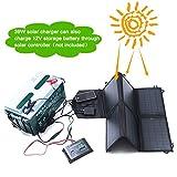 SUNKINGDOM 39W Solar Ladegerät (18 V DC bis 5V USB Dual Ausgang Ladegerät) für Laptop, Akku, Netz Bank, iPad, iPhone und mehr - 5