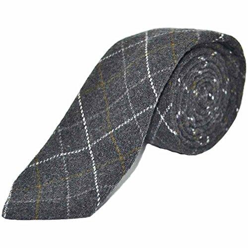 Corbata recuadros gris oscuro