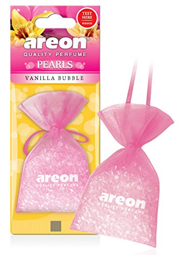 areon Perlen Auto Air Vanilla Bubble Aroma Lufterfrischer Qualität Parfüm Home Office Duft (Pack von 3) -
