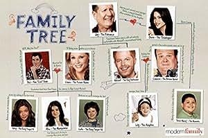 Famille-Modern Print Poster (arbre généalogique 91,44 x 60,96 cm