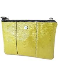 Ledertasche tasche 'Gabs'gelb ()- 24x17x1 cm.