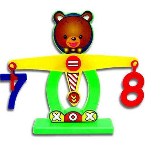 Kasstino Kids Baby Digital Bear Weighing Balance scale Puzzle Preschool Educational Toys