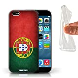 Stuff4 Coque Gel TPU de Coque pour Apple iPhone 6S / Portugal/Portugais Design/Drapeau Collection