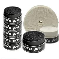 10 Griffbänder Pro's Pro für Tennis, Badminton, Squash (schwarz) - Pro's Pro
