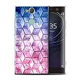 eSwish Hülle/Case für Sony Xperia XA2 Plus/Blau/Pink Muster/Bunte Würfel Kollektion