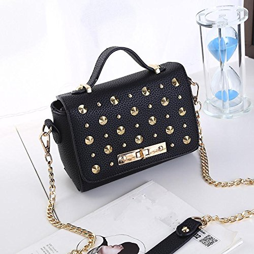 HQYSS Damen-handtaschen PU Leder frische süße Frauen Schulter Messenger Handtaschen black