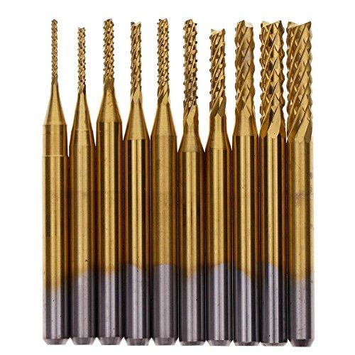 Teabelle 1000,8-3.175mm mais Fräser PCB Hartmetall Legierung Titan Vergoldung Bohrmaschine Werkzeug Kit -