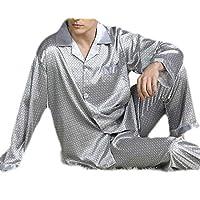 GRMO Men Print Sleepwear Plus Size Long Sleeve Summer 2 Piece Pajama 6 XL