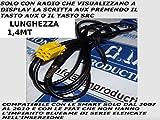 G.M. Production 191G Kabel–Kabel AUX Mp3mit Autoradio-Serie Blaupunkt Alfa Fiat Lancia Smart–kein Blue & Me, nur mit AUX-Anzeige verfügbar [Fotos und Angaben zur Kompatibilität beachten]