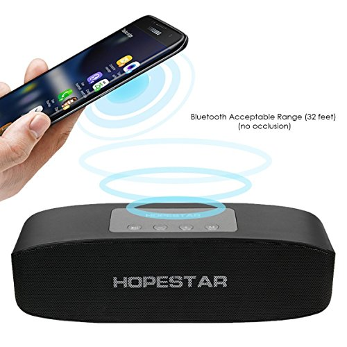 Liddu`s Wireless Bluetooth Multimedia Speaker | Hopestar Stereo Speaker | Pendrive Supported | FM, Aux, TF, Best Sound Quality Compatible with Samsung Galaxy Alpha