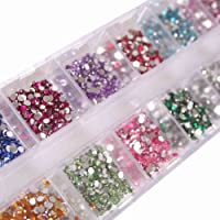 Generic Round Rhinestones Flatback Crystal Best 12 Colours 2mm 3000pcs Nail Art by Doubtless Bay