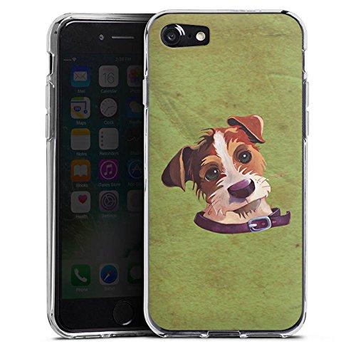 Apple iPhone X Silikon Hülle Case Schutzhülle Jack Russell Hund Dog Silikon Case transparent
