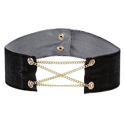 bishilin-samt-damen-halskette-rechteck-mit-ketten-gold-grau-choker-halsketten-halsband-verstellbare-