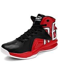 ASHION Chaussures de Sport-Basketball Homme, Noir