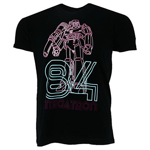 Transformers - Megatron Neon 84 heren unisex T-shirt zwart - Merchandise televisie robot superhelden (Poster Megatron)