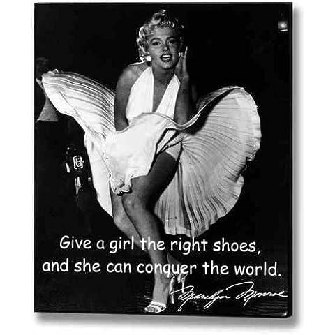 Marilyn Monroe–Right Shoes para colgar de madera pared placa mensaje signo decoración imagen